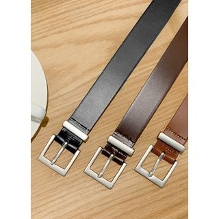 JOGUNSHOP - Square-Buckle Cowhide Belt