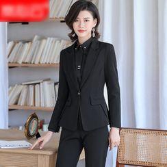 Skyheart - 单排扣西装外套 / 迷你塑身裙 / 西裤 / 长袖衬衫 / 套装