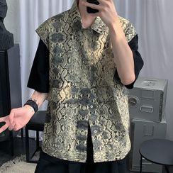 VEAZ - Buttoned Snake Print Vest