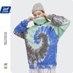 Newin(ニューイン) - Unisex Tie-Dyed High-Neck Sweatshirt