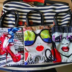 SUTOZ - 印花仿皮購物袋