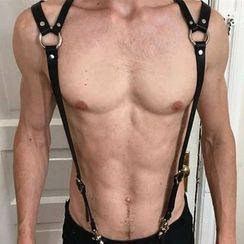 SURELIN - Faux Leather Body Harness Belt