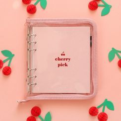 BABOSARANG - 'cherry pick' Zipped A6 Ring Binder Weekly Planner (M)