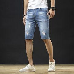LuJillo - 做旧牛仔短裤