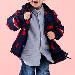 Happy Go Lucky - Kids Hooded Penguin Print Zip Jacket