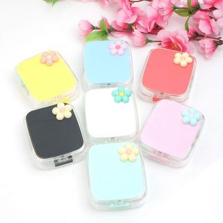 KAZZED - Floral Print Contact Lens Case