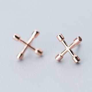 A'ROCH(エーロック) - 925 Sterling Silver Cross Earring