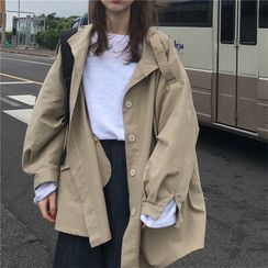 JIUHOJI - Single Breasted Trench Jacket
