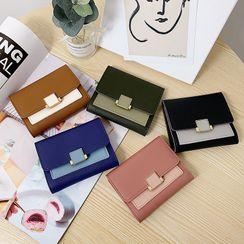 Churori - Color Panel Faux Leather Wallet