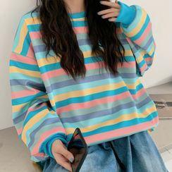 Cloud Nine - Striped Sweatshirt