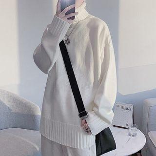 VEAZ - Turtleneck Loose-Fit Knit Top