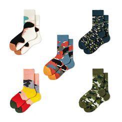 Guliga - 情侣装迷彩袜子