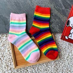 Olsin - Striped Crew Socks