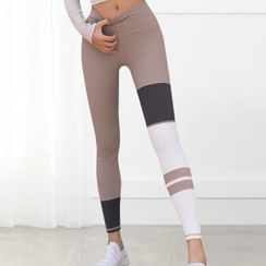 Girasol - 拼接運動內搭褲