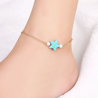 Glim - Turquoise Star Anklet
