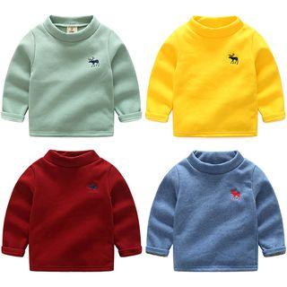 Seashells Kids - Kids Mock-neck Long-sleeve Fleece-lined T-shirt