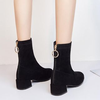 JY Shoes - Low-Heel Short Boots