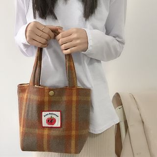 TangTangBags(タンタンバッグズ) - Applique Plaid Handbag