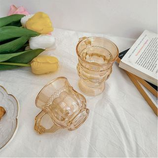 Moonap - Retro Glass Drinking Cup