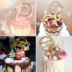Cakesix - Acrylic Birthday Cake Topper (various designs)