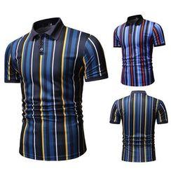 Fireon - Short-Sleeve Striped Polo Shirt
