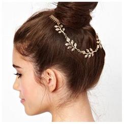 晴雯 - 樹葉裝飾鏈條髮簪