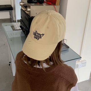 Balaytica - Letter Embroidered Distressed Baseball Cap