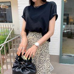 DEEPNY - Linen Blend Cropped T-Shirt