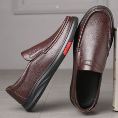 Kayne H - Faux Leather Slip-Ons