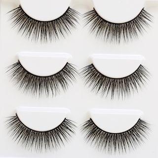Marlliss - False Eyelashes (3D-33) (3 pairs)