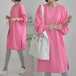 Seoul Fashion - Drop-Shoulder Pullover Dress