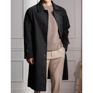 STYLEMAN - Raglan-Sleeve Hidden-Button Mac Coat