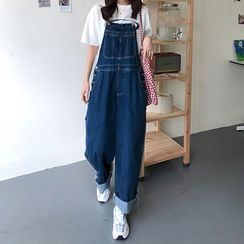 ANNZ - Denim Straight Jumpsuit