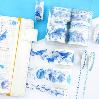 Doubtless - Set of 8: Watercolor Print Masking Tape