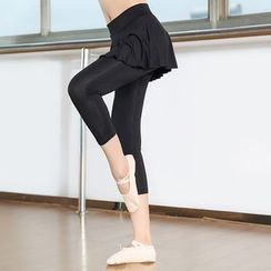 AUM - Inset Dance Skirt Leggings