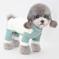 Pettrip - 抓毛拼接宠物连衣裤