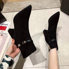 PRIN(プリン) - Chunky-Heel Short Boots
