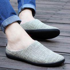 Signore - 防滑帆布包头拖鞋