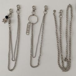 Lunashore - Alloy Leaf Layered Waist Chain