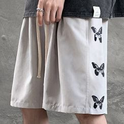 Sartho(サルソ) - Butterfly Print Knee-Length Shorts