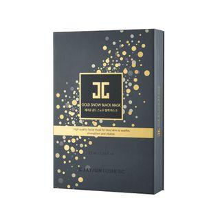 JAYJUN - Gold Snow Black Mask Set