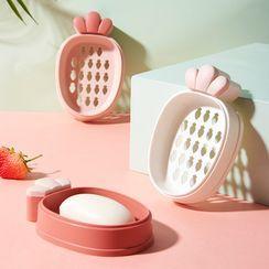 Livesmart - Set of 1 / 2: Carrot Plastic Soap Case