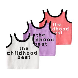 MOM Kiss - Baby Lettering Tank Top