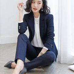 Princess Min - 单钮扣西装外套 / 直筒西裤 / 铅笔裙 / 套装