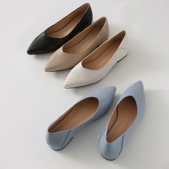 HOTPING - Pointy-Toe Foldable Flats