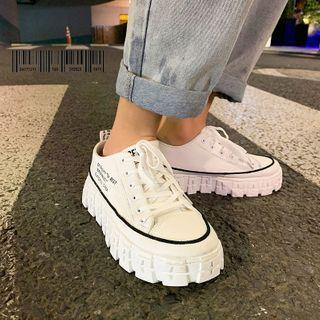 Tanzanite - Platform Canvas Sneakers