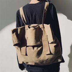 SUNMAN - Canvas Plain Backpack