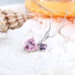 Zundiao - Sterling Silver Rhinestone Jeweled Pendant