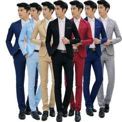 Chopit - Set: Slim-Fit Blazer + Dress Pants