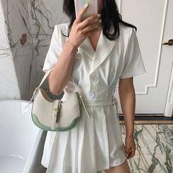NewTown - Paneled Buckled Shoulder Bag